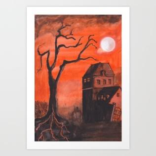 halloween-house46878-prints